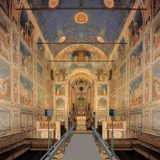 Progtto di illuminazione della Cappella degli Scrovegni, Padova