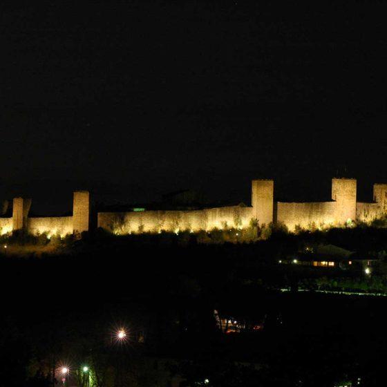 Progetto illuminazione Monteriggioni Siena