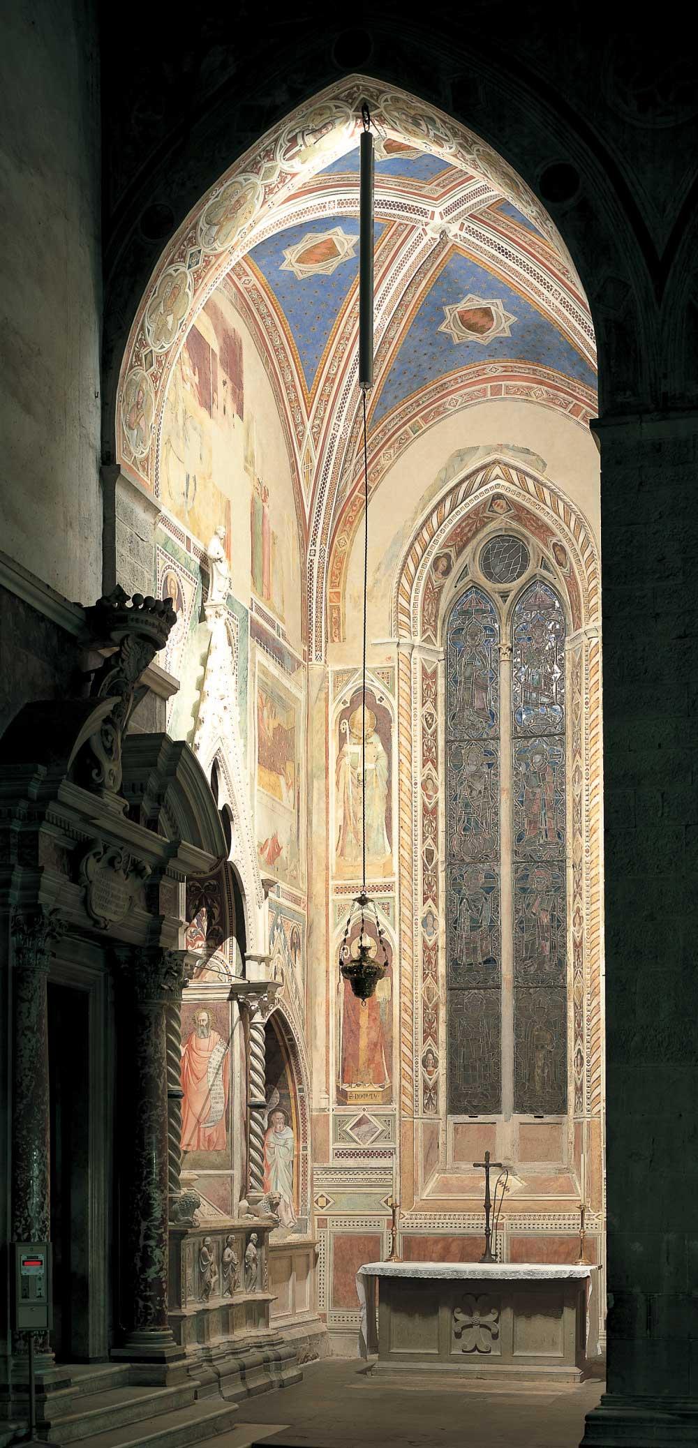 Progetto illuminazioneCappella de' Bardi, Firenze