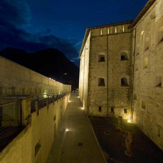 Progetto illuminazione Forte di Bard, Aosta