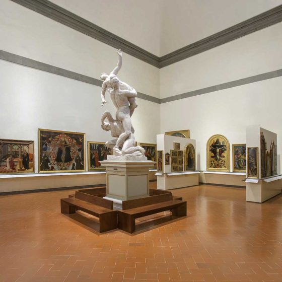 Progetto illuminazione Galleria dell'Accademia, Firenze
