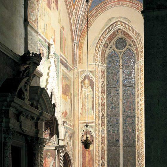 Progetto illuminazione Cappella Bardi, Chiesa di santa Croce, Firenze