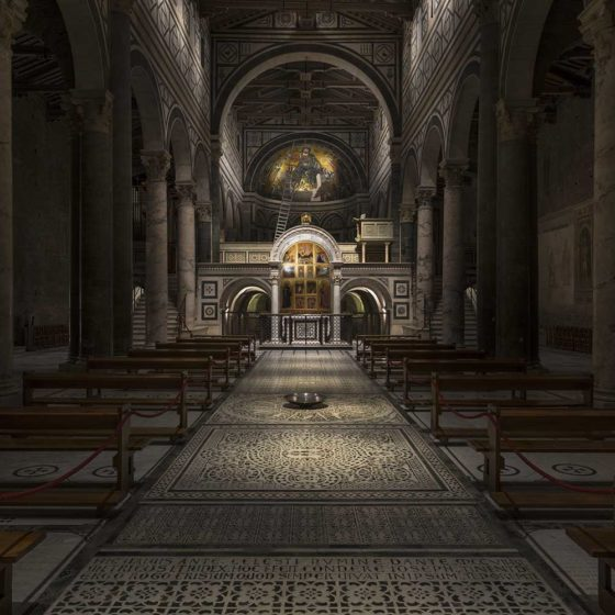 Progetto di illuminazione di Massimo Iarussi per la Basilica di San Miniato a Monte