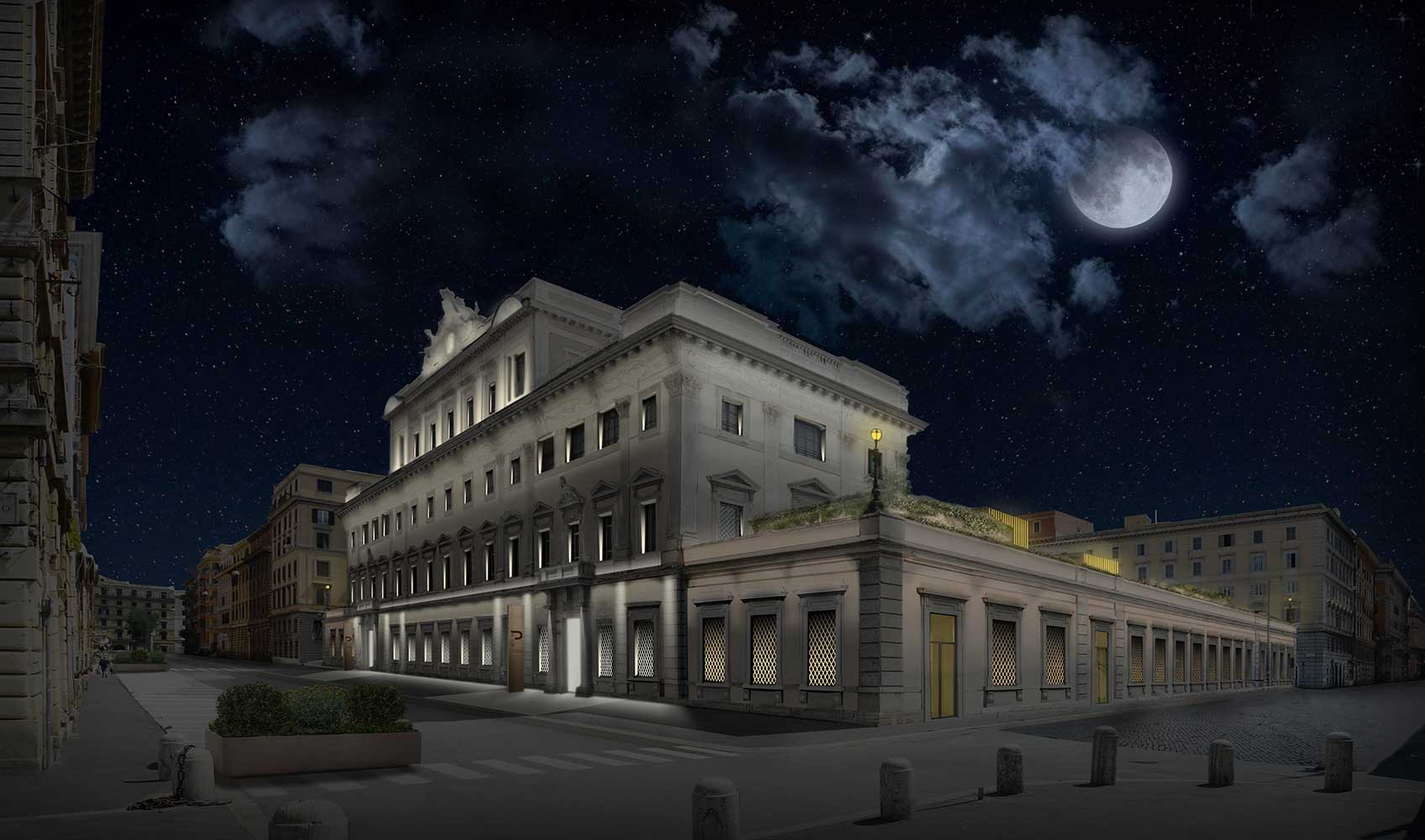 Progetto illuminazione complesso immobiliare Roma