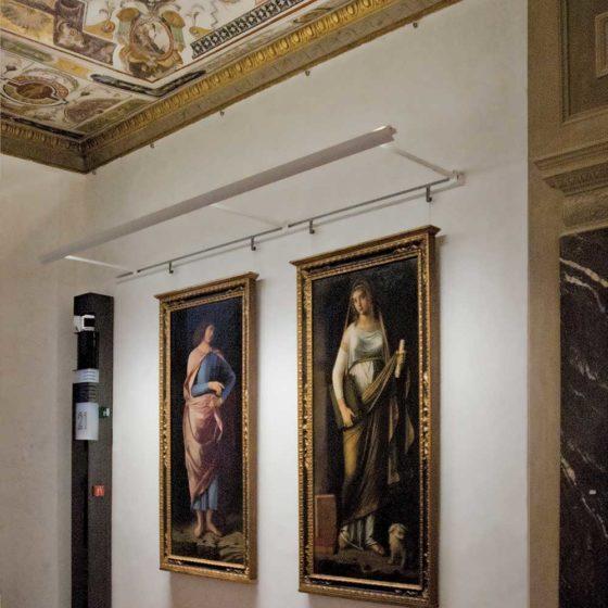 Progetto illuminazione di Massimo Iarussi per le Salette dei Nuovi Uffizi