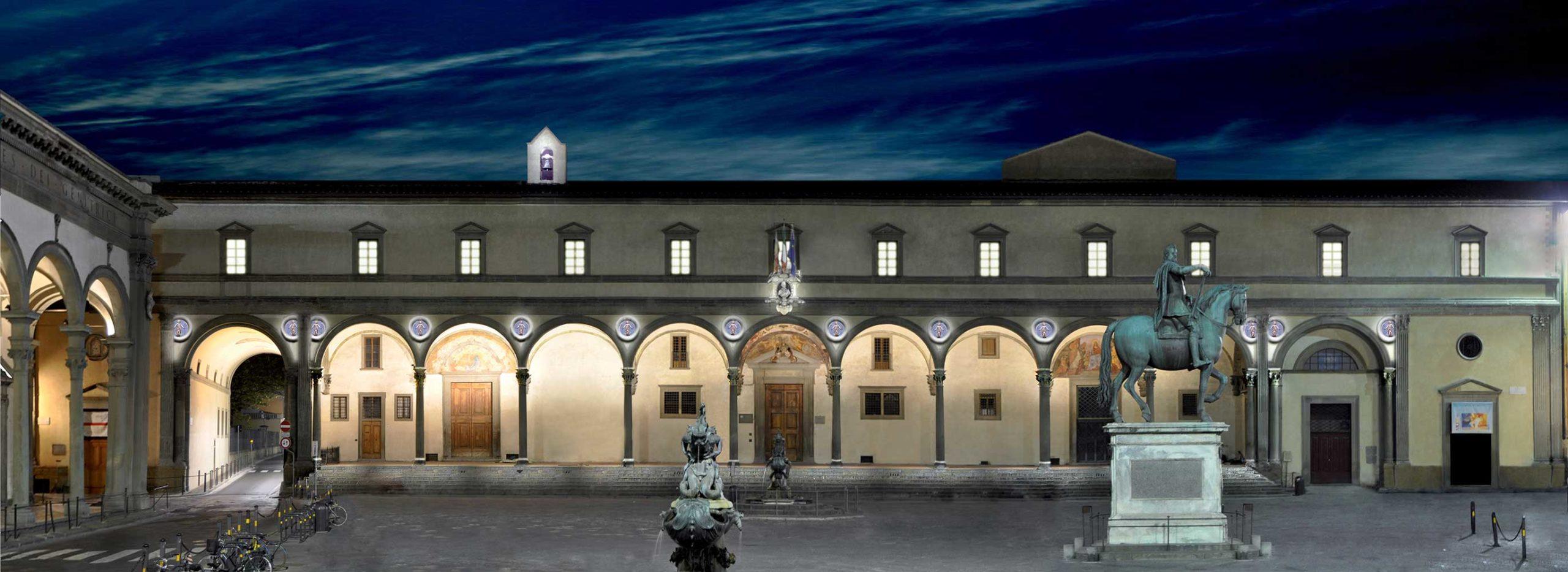Progetto illuminazione Museo degli Innocenti Firenze