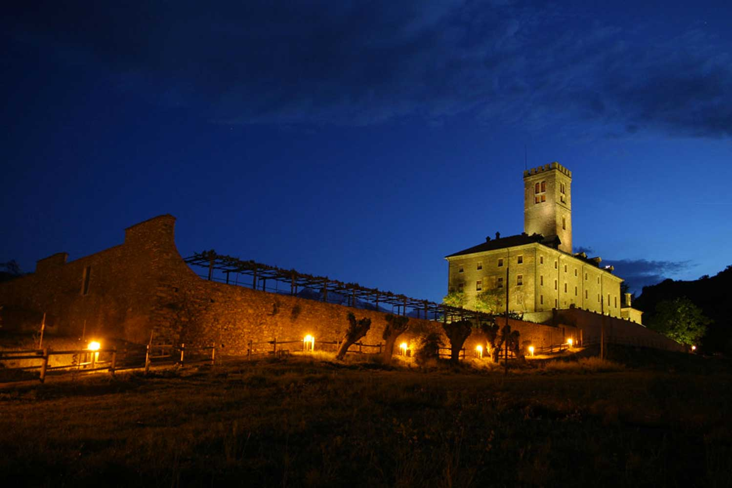 Progetto di illuminazione Castello di Sarre, Aosta