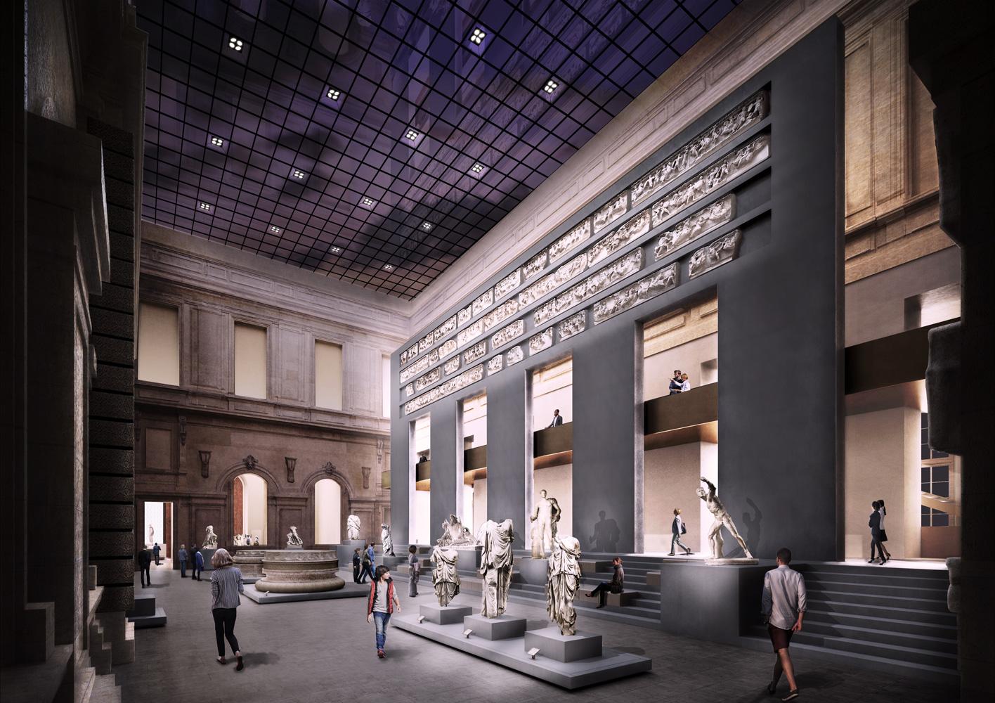 illuminazione Louvre